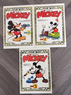 Mickey Mouse complete serie  hc 3x 1 t/m 3